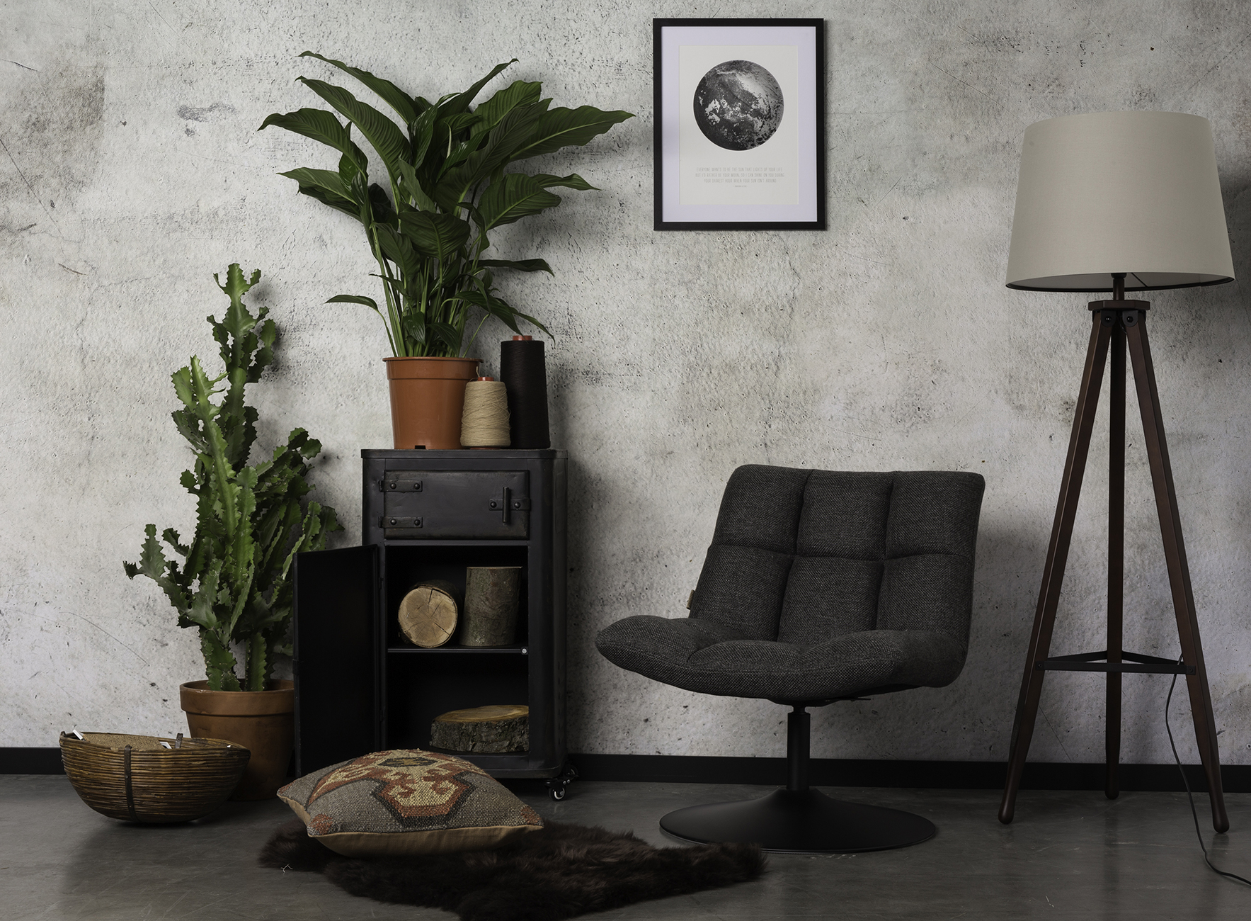 Dutchbone Stoel Blackwood : Bar lounge chair dutchbone