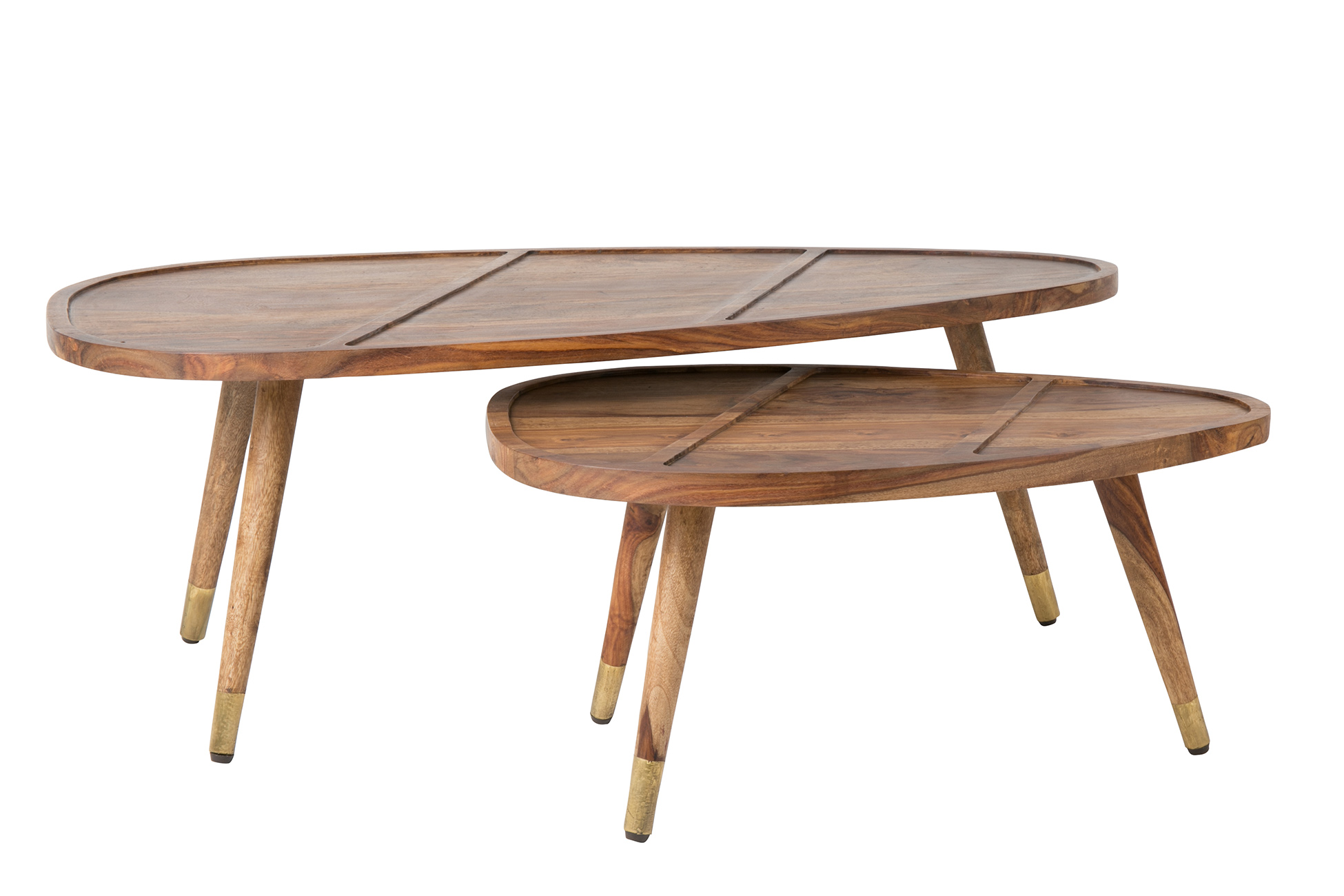 Sham coffee table set of 2 dutchbone - Tables basses gigognes ...