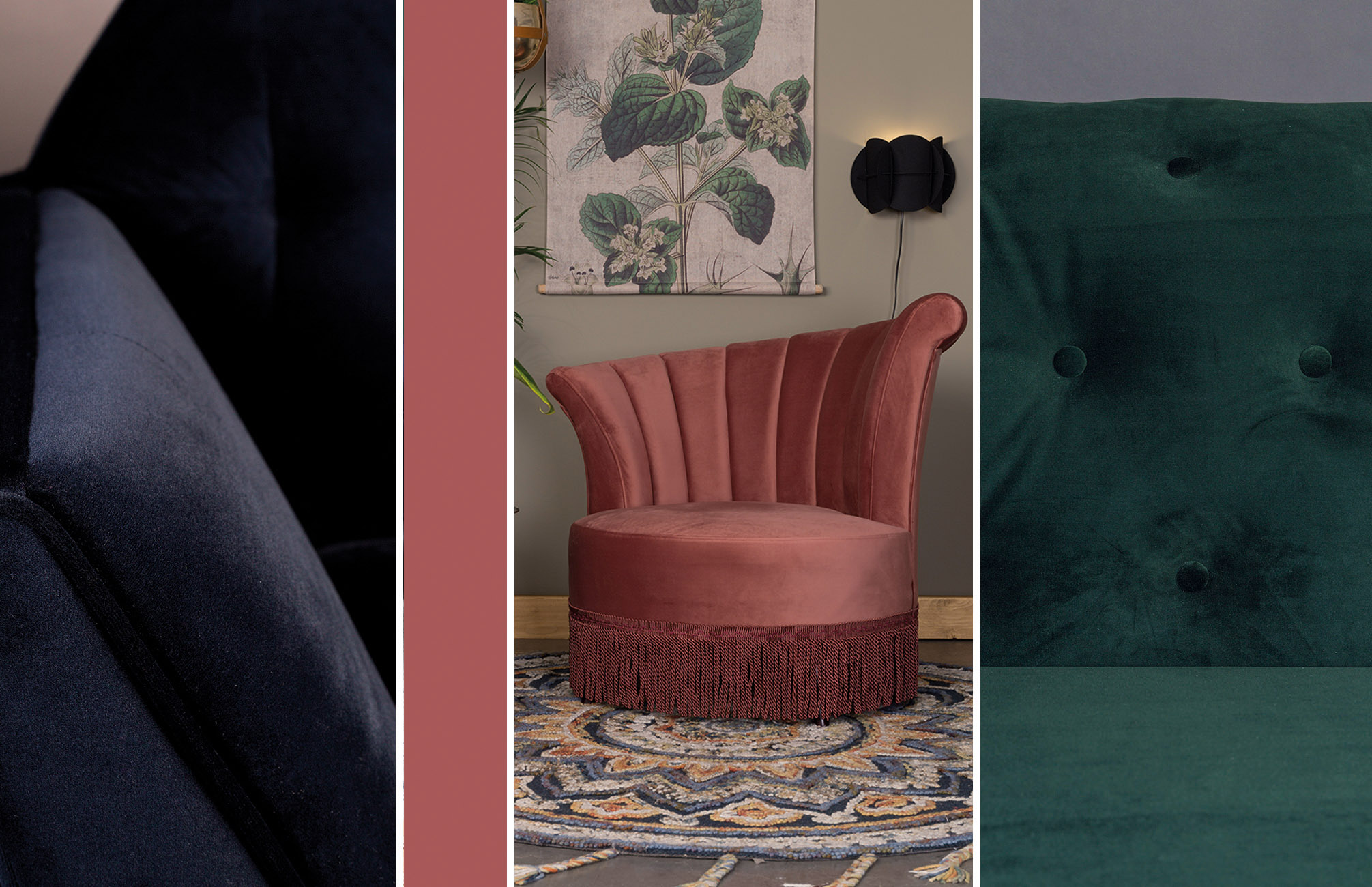 ... Elegant Antique Pink And Deep Night Blue. These Are Colours That Are  Reminiscent Of The First Half Of The 20th Century. Kate Lounge Chair ...